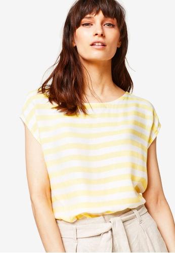 ESPRIT yellow Short Sleeve T-Shirt 65AC2AA3E0DAFBGS_1