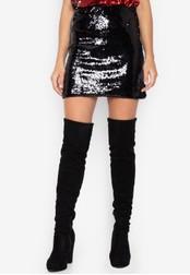 Chase Fashion black Sequin Club Skirt B89E5AAC987F9DGS_1