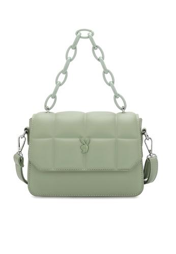 PLAYBOY BUNNY green Quited Sling Bag 1C833ACE3CBDD1GS_1