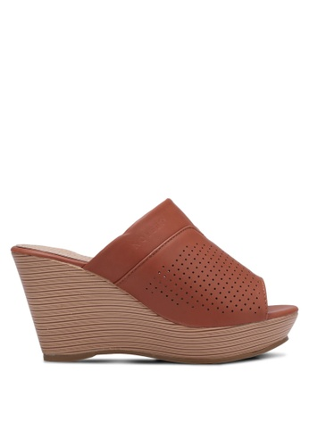 Noveni brown Perforated Wedges NO978SH0RX2WMY_1
