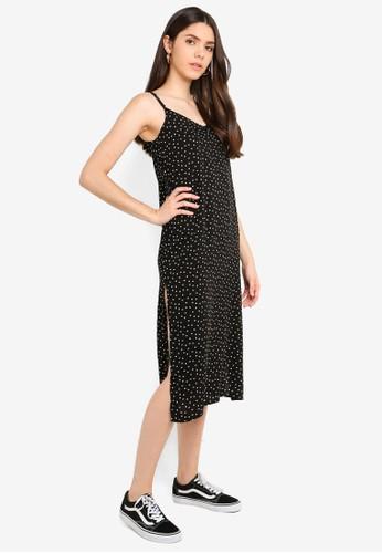 Factorie black Midi Slip Dress EA1DCAA8929FC6GS_1