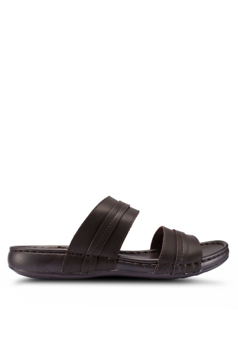 Carlton London brown Double Strap Sandals 24C7ASH0D3EF24GS_1