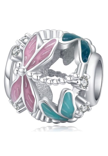 925 Signature 925 SIGNATURE Solid 925 Sterling Silver Dragonfly Animal Pandora Inspired Charm 3B003ACF9AE448GS_1