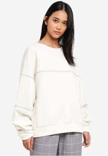TOPSHOP beige Petite Stab Stitch Sweater 0A84CAA524BCB1GS_1