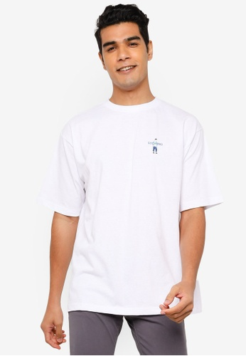 RAGEBLUE white Embroidery T-Shirt CF29AAAE1CAC80GS_1