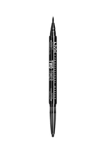 NYX Professional MakeUp black NYX PROFESSIONAL MAKEUP Two Timer-Dual Eyeliner - Black NY716BE0SIC2MY_1
