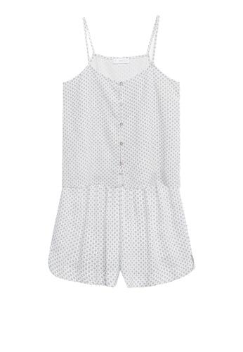 MANGO KIDS white Printed Short Pyjamas 7D62AKA2B7BB45GS_1