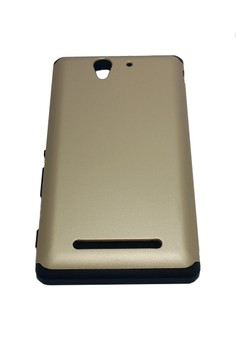 Sleek Shockproof Case for Sony Xperia C3 (Gold)