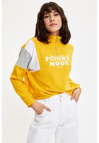 DeFacto yellow Woman Sweat Shirt 79B58AAECEEA22GS_1