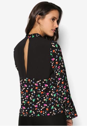 幾何印花鏤空長袖esprit 衣服衫, 服飾, 上衣