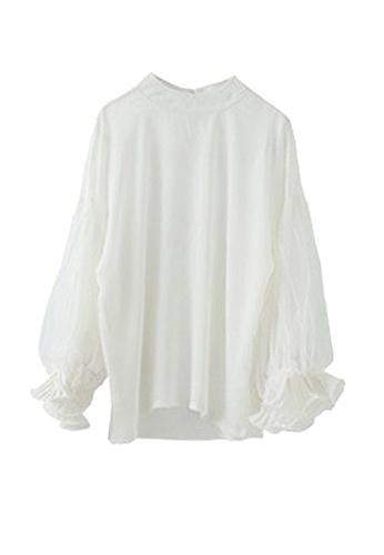 Twenty Eight Shoes white VANSA Lace Long Sleeve Blouse  VCW-Bs2235 1FE5AAAEE40975GS_1