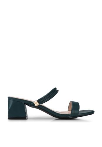 Kimmijim green Kaylin Open Toe Block Heels D2F9CSHC0F6246GS_1