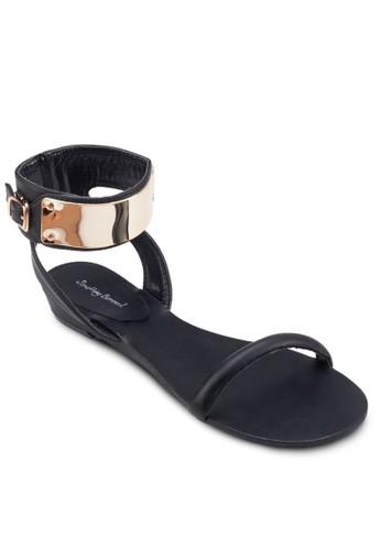 金飾繞踝平底涼鞋, 女鞋, esprit台灣官網鞋