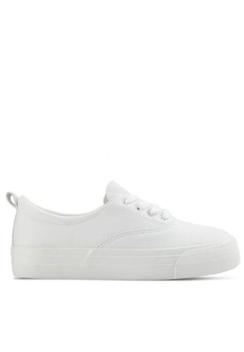 Twenty Eight Shoes 白色 柔軟仿皮厚底運動鞋T16392 B6F14SH5897D17GS_1