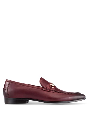 Dune London red Snaffle Loafers DU588SH0RQNIMY_1
