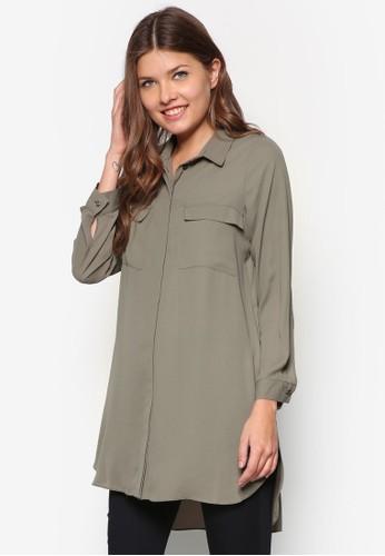 Petite 長版長袖襯衫, 服飾, zalora時尚購物網評價上衣