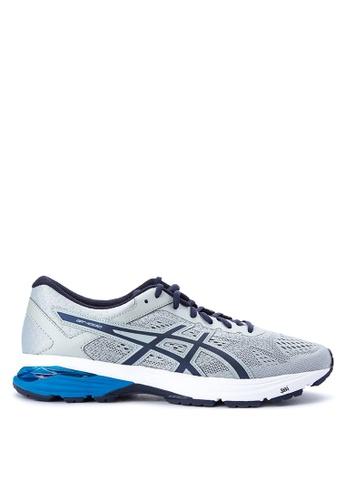 Asics grey and navy GT-1000 6 Running Shoes AS445SH0JGSHPH_1