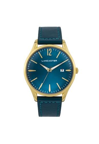 Lancaster Paris blue and gold Heritage 3 Hands LA452AC0GA1FSG_1