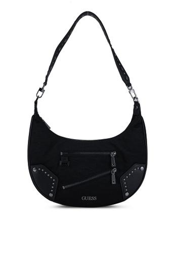 GUESS black Frankie Hobo Bag E2B40ACE1F51E6GS_1
