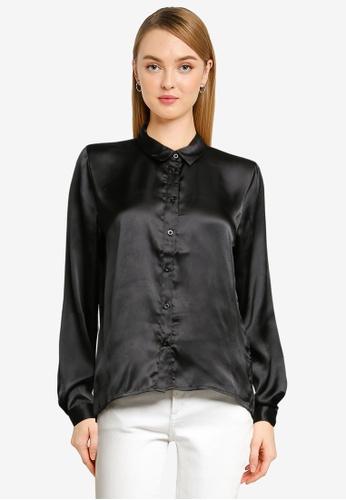 JACQUELINE DE YONG black Fifi Long Sleeve Short Shirt 7F856AA49A53DFGS_1