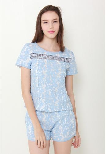 Leline Style blue Daisy Crotchet Set LE802AA75CEQSG_1