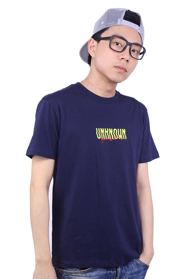 Unknown Pleasures Praise Navy Graphic Tee rgWqnUr
