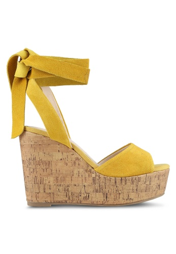 TOPSHOP yellow Wicked Two Part Wedges TO412SH0S4I6MY_1