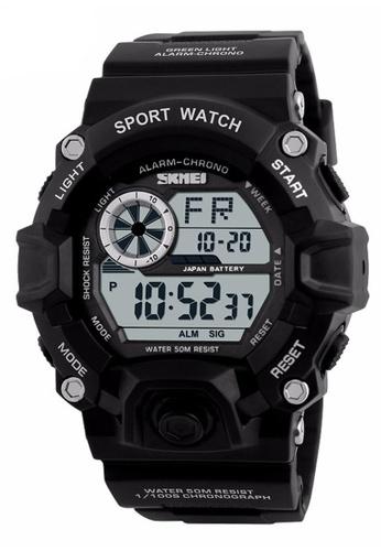 Skmei black SKMEI 1019 Men's Military Fashion LED Digital Sports Watch (Black) SK707AC0RXNNMY_1