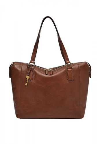 Fossil brown Jacqueline Tote Leather 330C6AC06A7C27GS_1