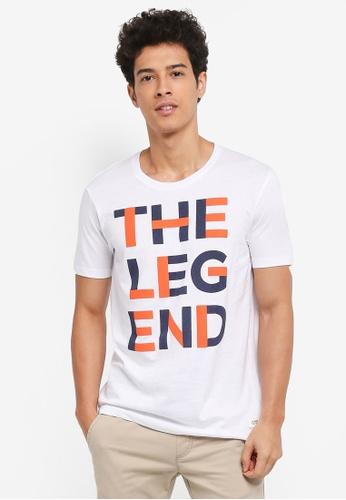 ESPRIT white Short Sleeve T-Shirt 5D4BBAA46896FEGS_1