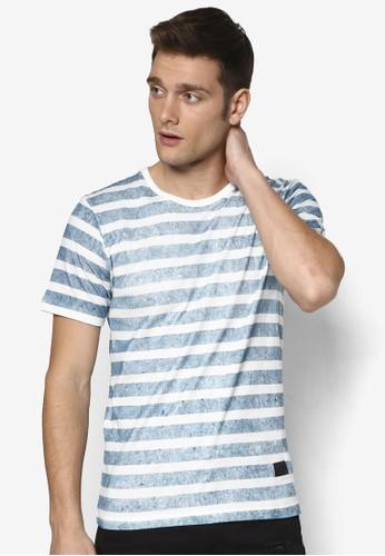 線條褪色圓領 TEE, 服飾esprit tw, T恤