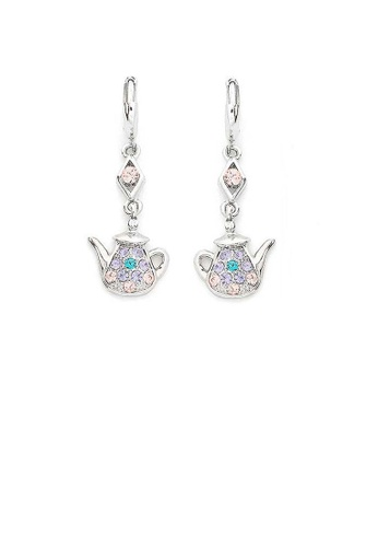 Glamorousky multi Mini Teapot Earrings with Light Purple Pink and Blue Austrian Element Crystals 53B64ACC48BD83GS_1