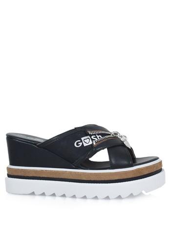 GOSH black Ravenna-324 Ceniera Wedges Sandals 94313SH2D1B85AGS 1 d7b9d026c8