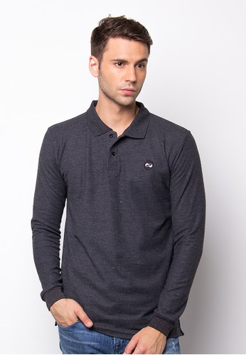 Gyffrous Polo Shirt Plain Dark Grey