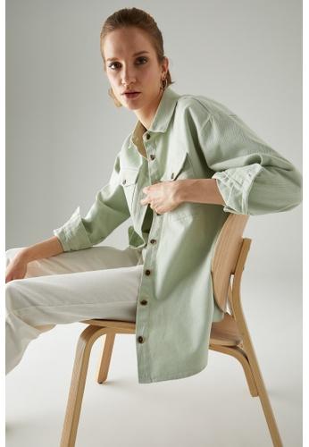 DeFacto green Woman Woven Long Sleeve Shirt D7A18AA774821CGS_1