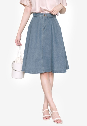 Tokichoi blue Washed Denim Skirt 16369AA8059EE7GS_1