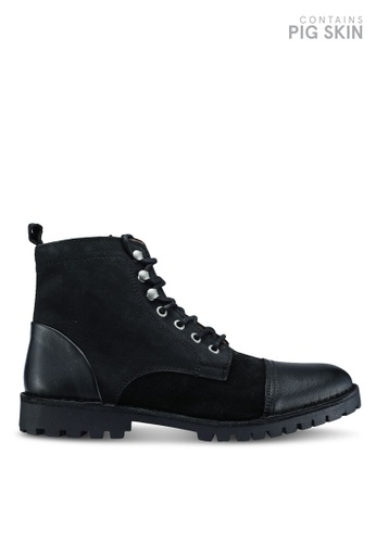 Selected Homme black Rick Mix Boot D2AD1SHEE867FCGS_1
