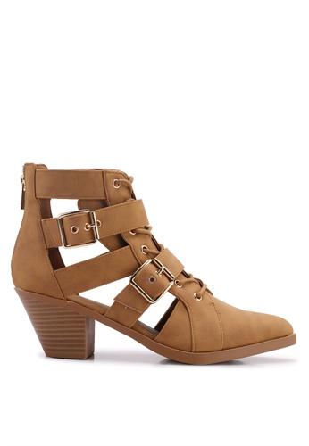 Rubi brown Ariana Buckle Boots 51068SH247B727GS_1