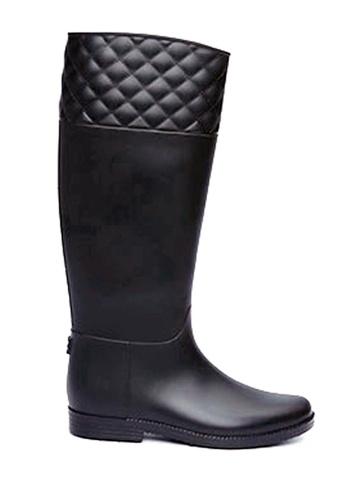 Twenty Eight Shoes black Rhombic Long Rain Boots VT826 TW446SH88BRVHK_1
