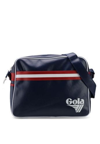 Gola white and red and navy Redford Retro Stripe Bag A0073AC57B250EGS_1