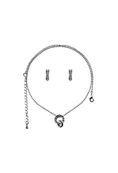 Paris Bijoux ST14292A Set Necklace + Earring - Crystal