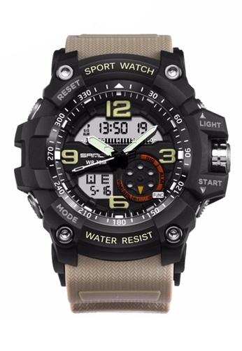 SANDA grey SANDA 759 G Style Military Waterproof Outdoor Sports Men's Shockproof Digital Watch (Black Grey) SA708AC0RXE8MY_1