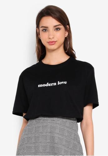 Boohoo 黑色 Oversized T恤 6CEBBAA768A97CGS_1
