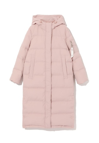 LOS ANGELES PROJECT -FASHION pink Long down coat. 5B770AA7C7976BGS_1