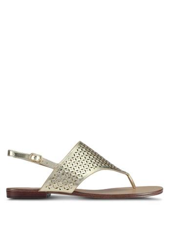 ALDO gold Unulla Flat Sandals CCC77SH3CBB250GS_1