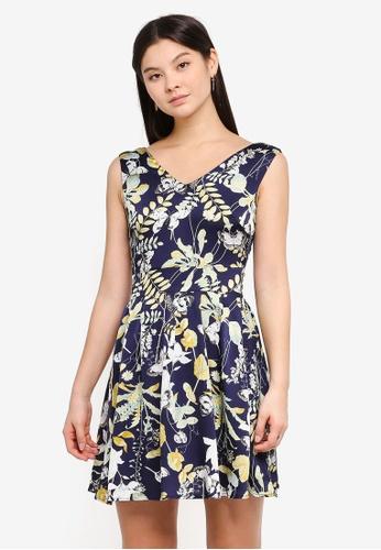 Mela London navy Garden Print Dress BD545AA8C9A01BGS_1