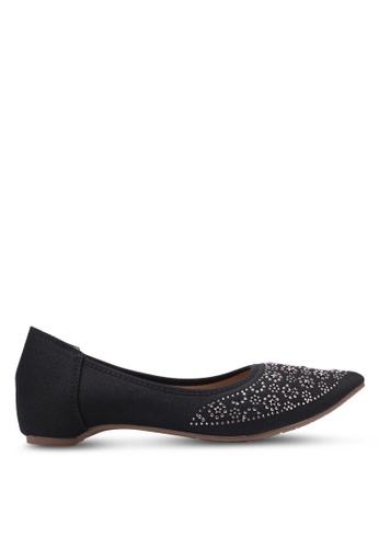 Spiffy black Star Studded Flats SP352SH0S6DXMY_1