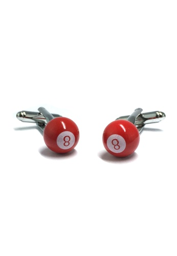 Splice Cufflinks Red 8 Pool Ball Cufflinks SP744AC46ETDSG_1