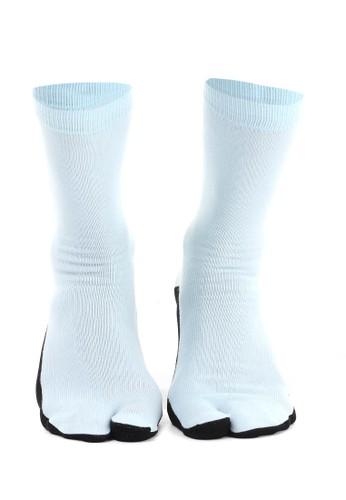 Hamlin blue Hamlin Nercyla Kaos Kaki Wanita Toe Socks Two Tone Casual Footwear Material Spandex ORIGINAL 09D20AA408E5BAGS_1