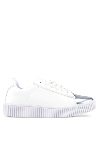 Something Borrowed white Top Cap Sneakers 02415SHEFF16A4GS_1